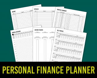 Personal Finance Planner KDP Low-Content Template