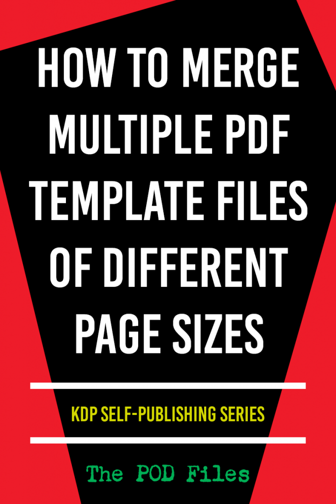 How to merge multiple PDF files of different page sizes and add bleed.