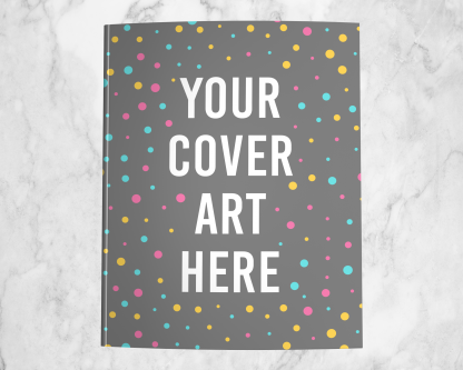8.5x11 Paperback Mockup using your KDP cover art