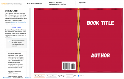 KDP Cover Template from Canva