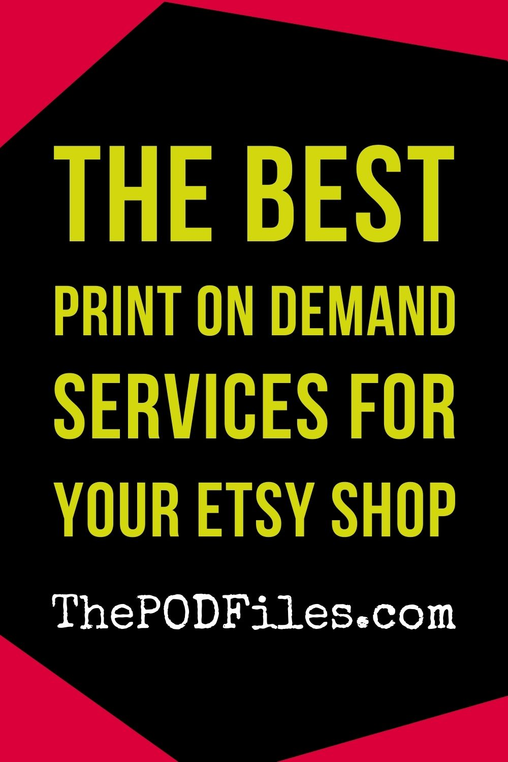 The best print on demand drop shipping services for your Etsy shop.