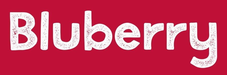 Bluberry Font - Grunge Version