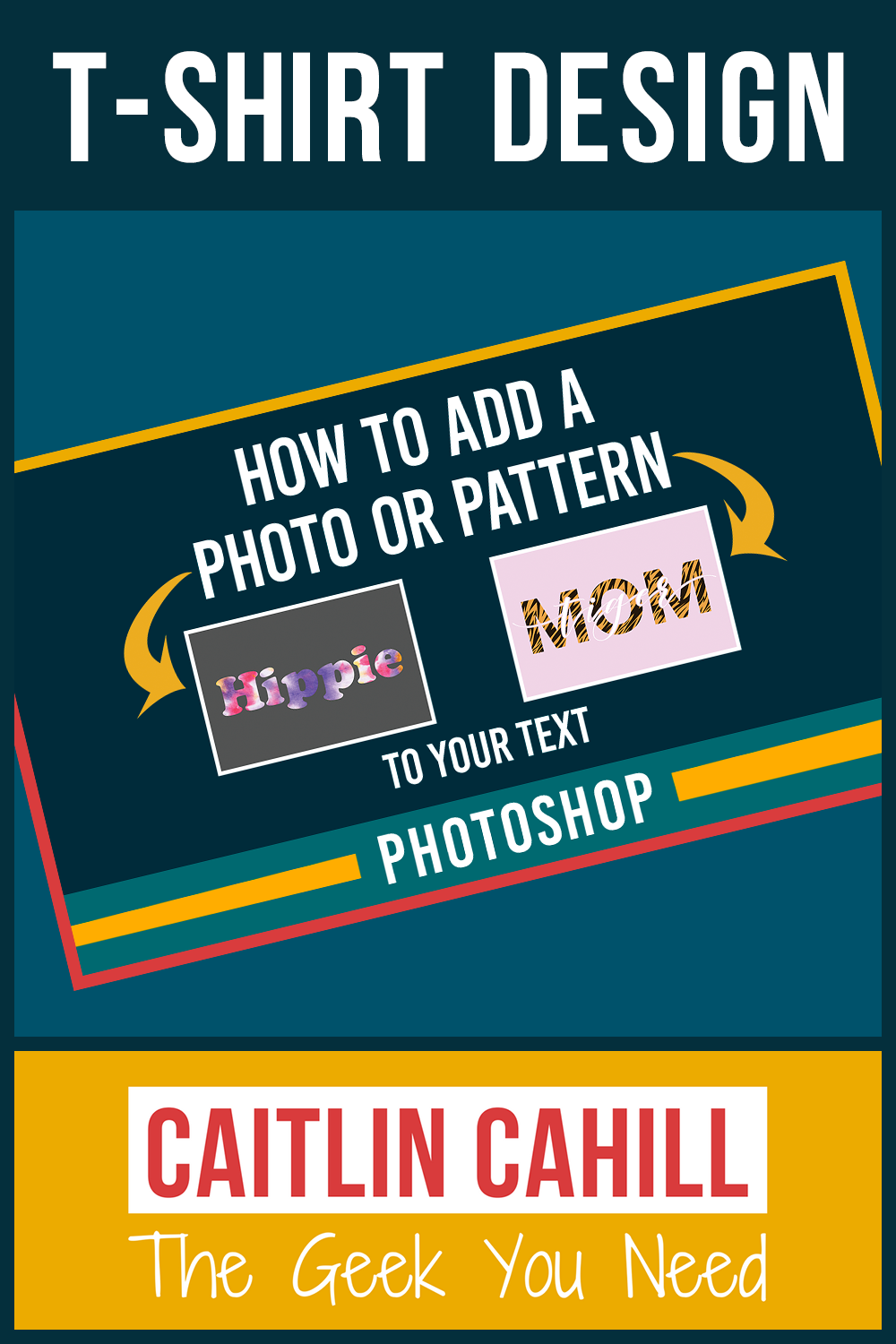 How to add a photo or pattern to your text using Photoshop.