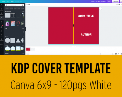 KDP Cover Template for Canva - 6 x9 inches - 120 pages white paper