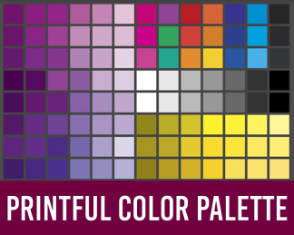 Printful Color Palettes for Photoshop