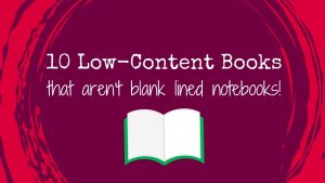 10 Low-Content Books for KDP Niches
