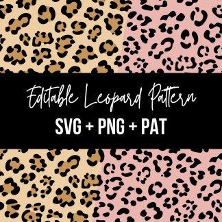 Editable Leopard Pattern - SVG, PNG, Adobe PAT
