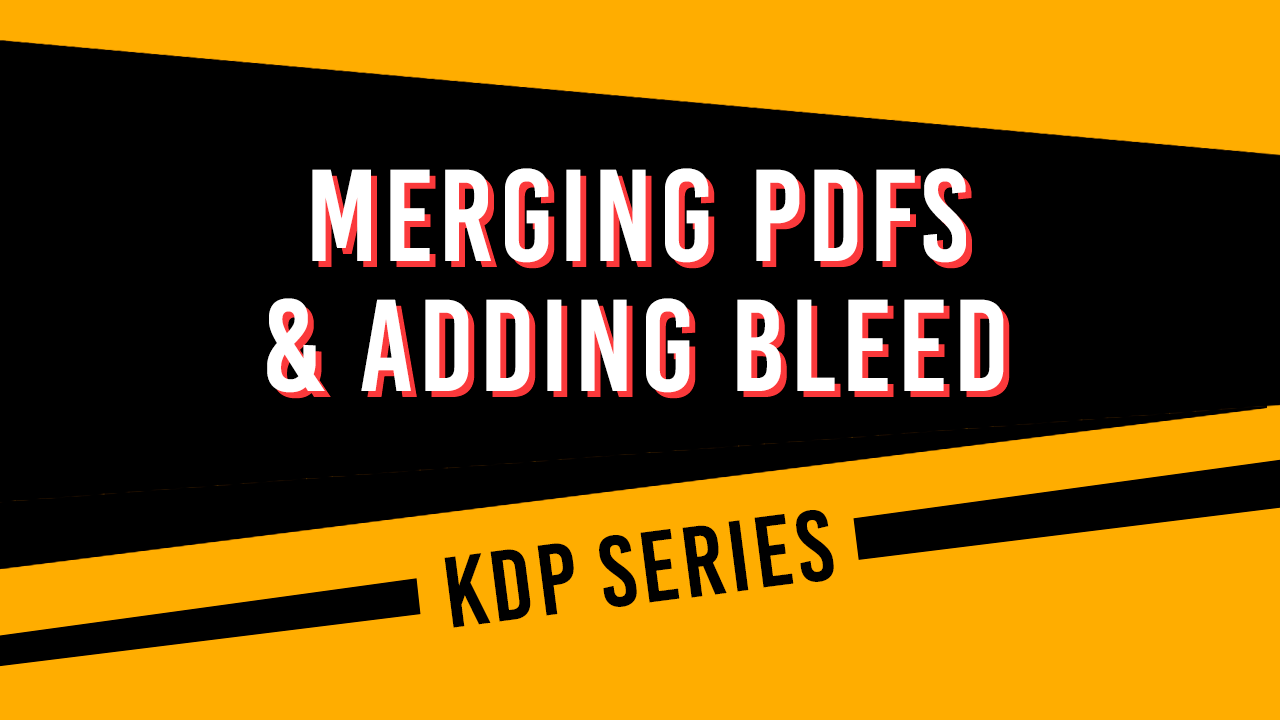 How to merge PDFs and add bleed with Adobe Acrobat.