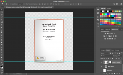 6x9 Paperback Book Mockup Photoshop Template