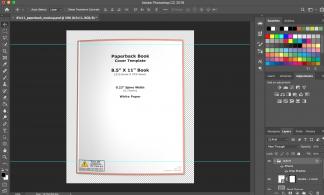 8.5x11 Paperback Book Mockup Photoshop Template