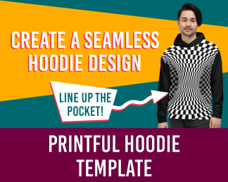 Product thumbnail for an AOP hoodie template for Printful