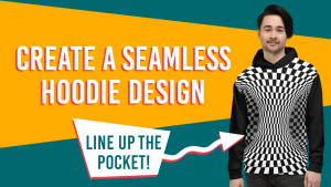Create a seamless hoodie design by lining up the pocket