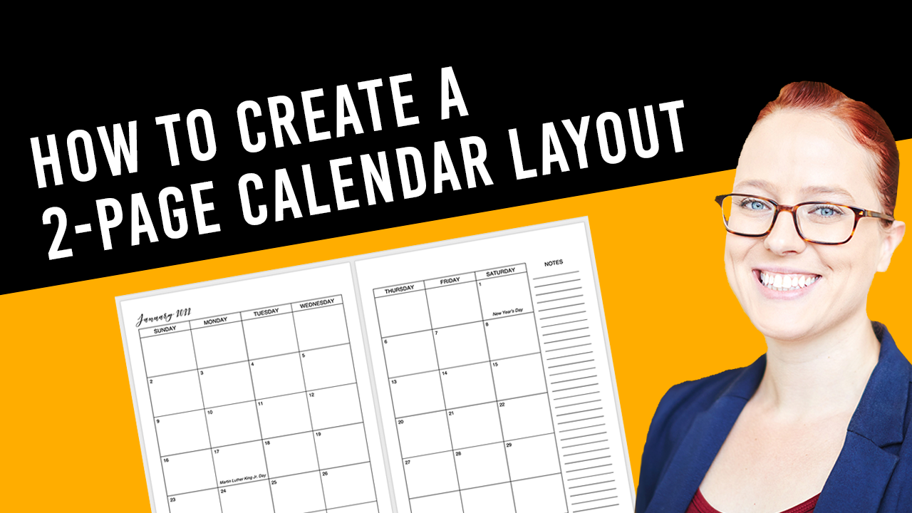 How to create a 2-page calendar layout in Word for KDP