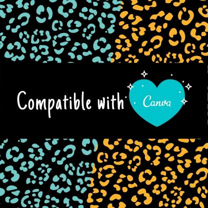 Seamless leopard pattern SVG compatible with Canva. Change the spot colors.