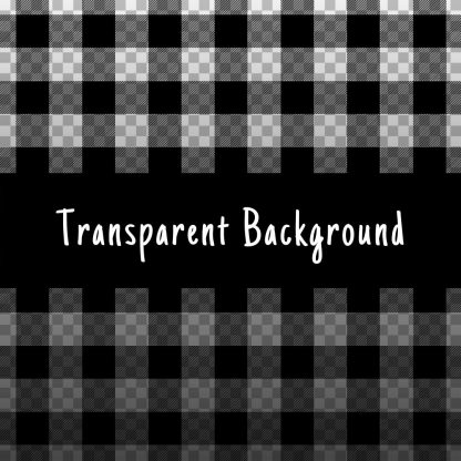 Seamless plaid pattern PNG with transparent background